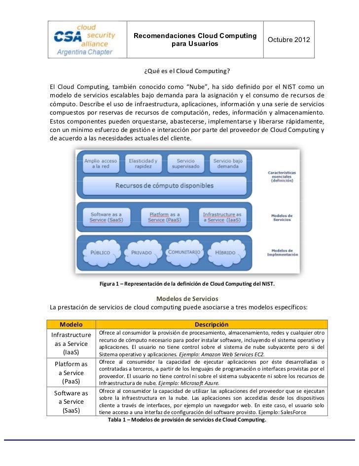 [CSA] Recomendaciones de Seguridad en Cloud Computing para Usuarios Slide 3