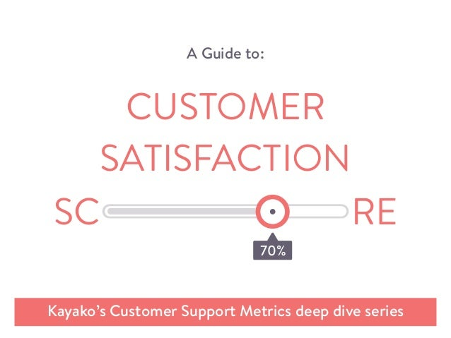 A Guide to: Kayako's Customer Support Metrics deep dive series CUSTOMER SATISFACTION 70%