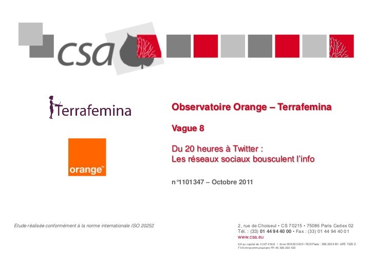 Observatoire Orange – Terrafemina                                                                  Vague 8                ...