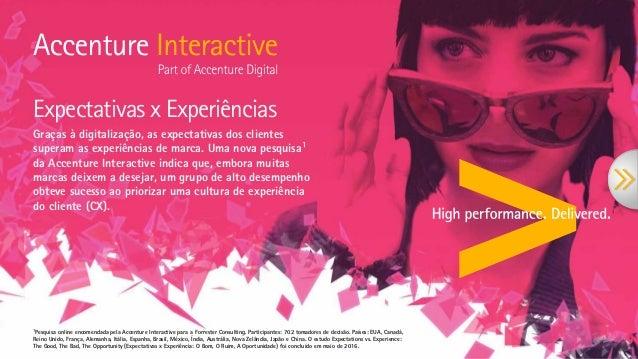 Expectativas x Experiências Graças à digitalização, as expectativas dos clientes superam as experiências de marca. Uma nov...