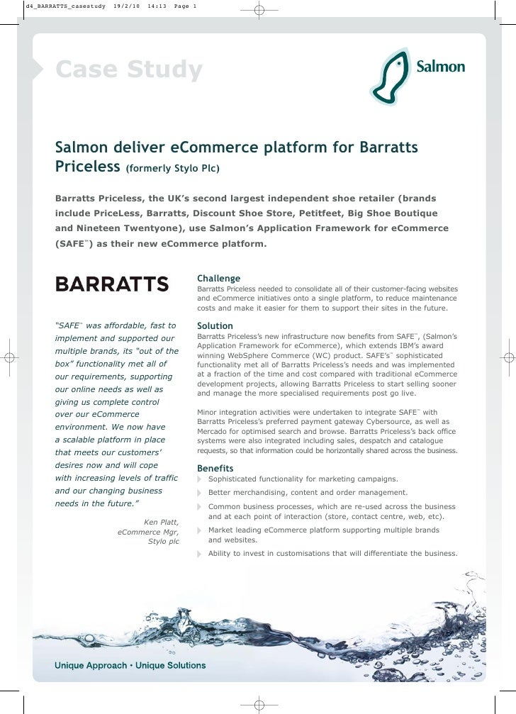 Case Study   Salmon deliver eCommerce platform for Barratts Priceless (formerly Stylo Plc) Barratts Priceless, the UK's se...