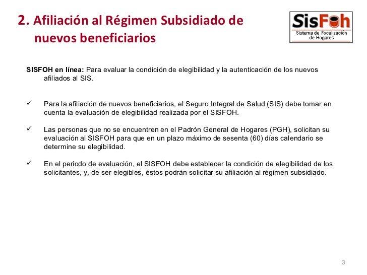 SISFOH EVALUACION SOCIOECONOMICA Slide 3