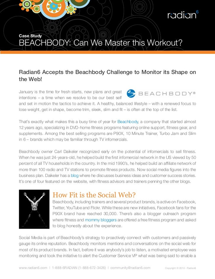 beachbody social media case study