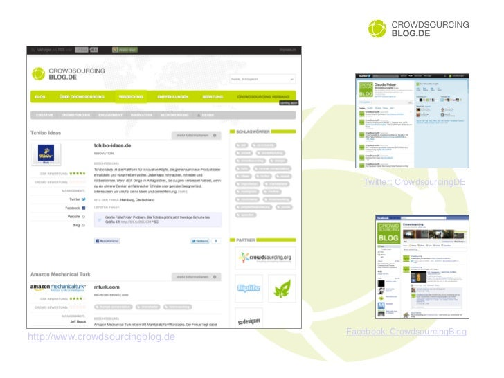 "Twitter: CrowdsourcingDE""                                   Facebook: CrowdsourcingBlog""http://www.crowdsourcingblog.de"""
