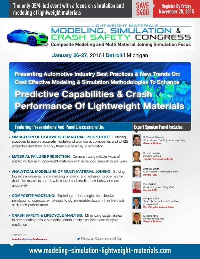 Modeling, Simulation & Crash Safety Congress