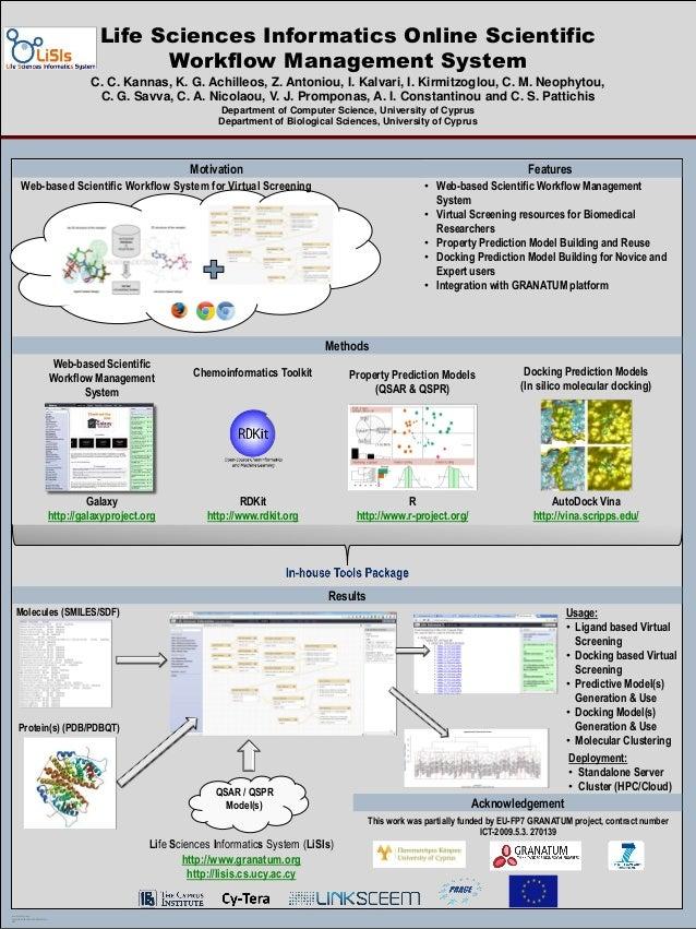 Life Sciences Informatics Online Scientific Workflow Management System C. C. Kannas, K. G. Achilleos, Z. Antoniou, I. Kalv...