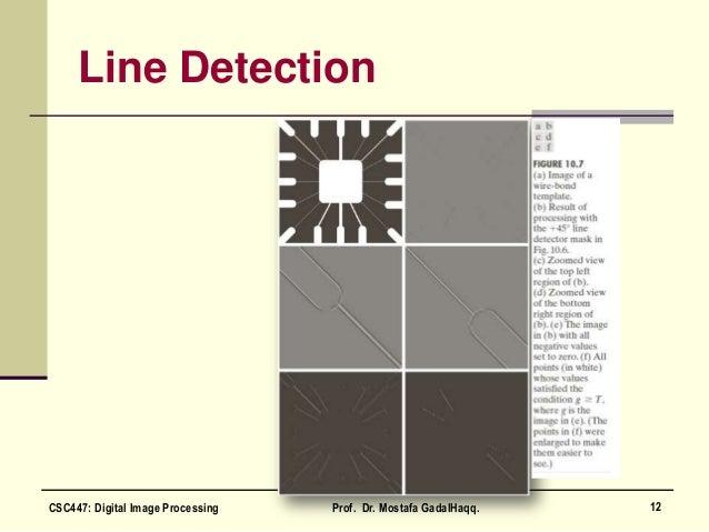 Line Detection 12CSC447: Digital Image Processing Prof. Dr. Mostafa GadalHaqq.