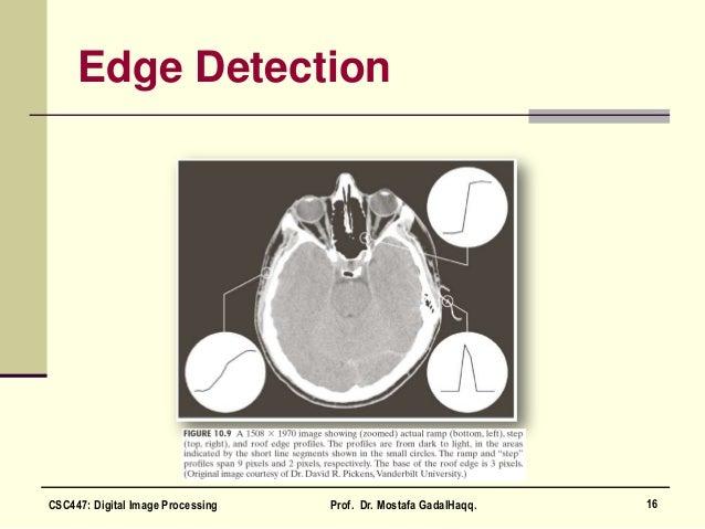 Edge Detection 16CSC447: Digital Image Processing Prof. Dr. Mostafa GadalHaqq.
