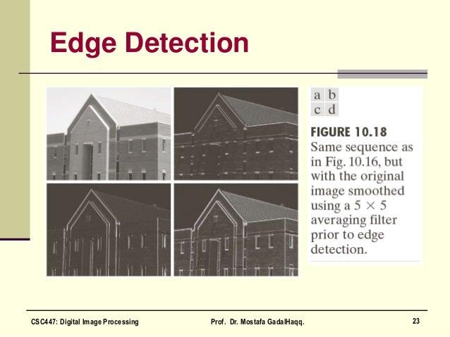 Edge Detection 23CSC447: Digital Image Processing Prof. Dr. Mostafa GadalHaqq.