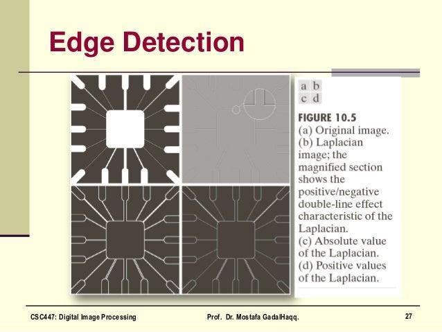 Edge Detection 27CSC447: Digital Image Processing Prof. Dr. Mostafa GadalHaqq.
