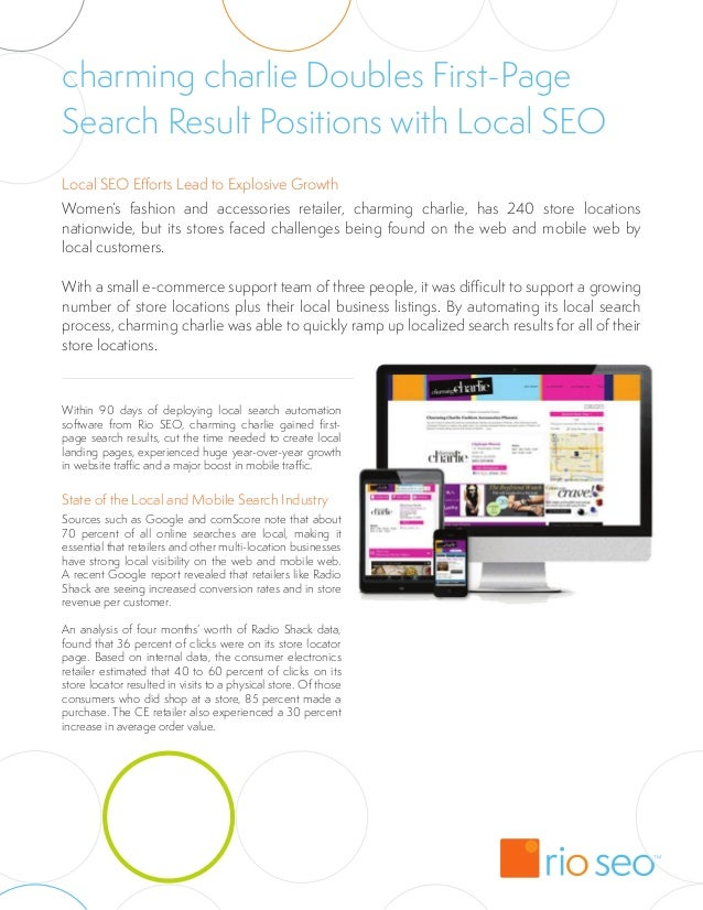 charming charlie Doubles First-PageSearch Result Positions with Local SEOLocal SEO Efforts Lead to Explosive GrowthWomen's...