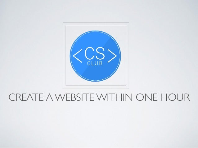 CREATE A WEBSITE WITHIN ONE HOUR