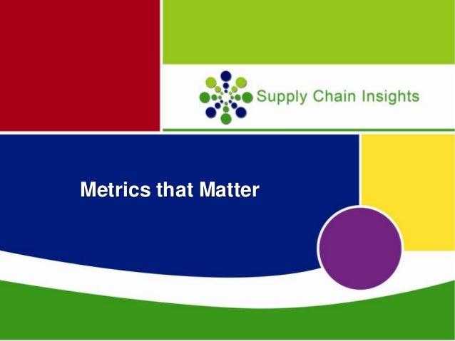 Cscmp  metrics that matter