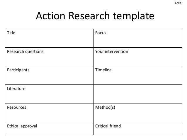Getting Started With Action Research With Dr Chris Smith