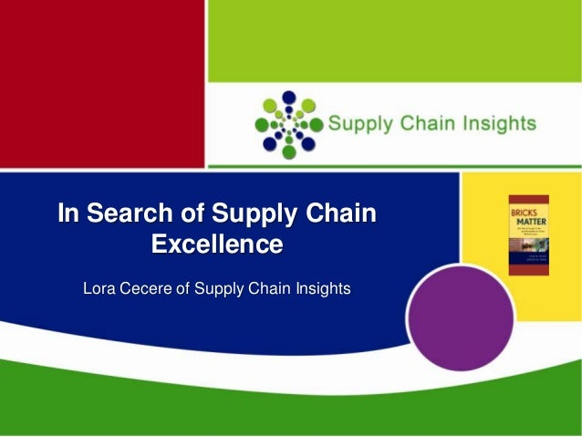 Presentation at the Chief Supply Chain Officer Conference on June 19th
