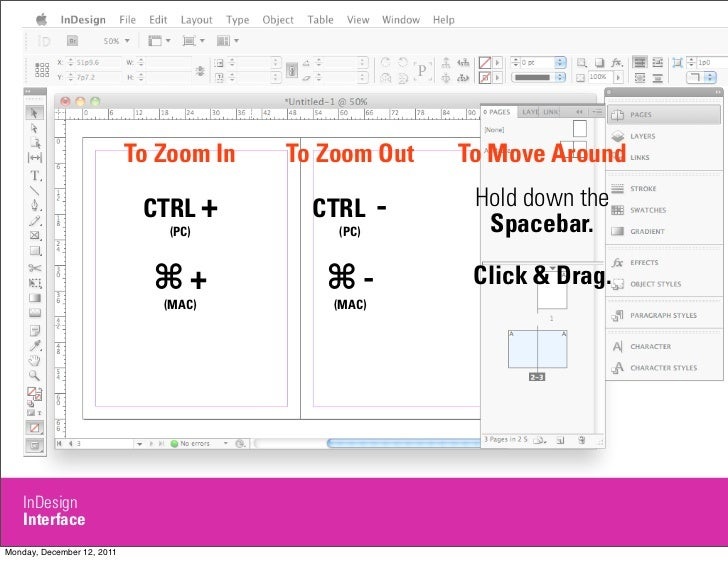 Indesign crash course 5 to zoom in to zoom out ccuart Images