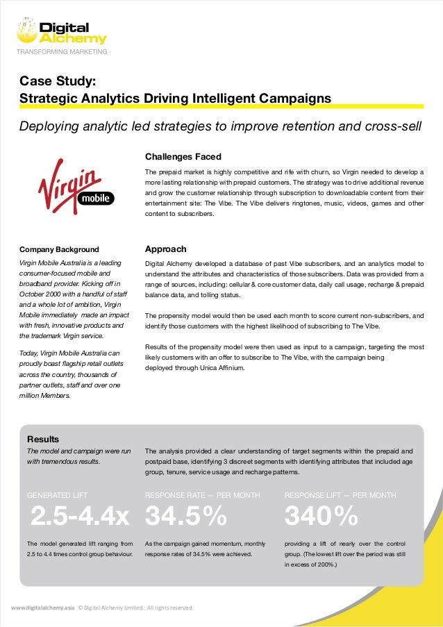 www.digitalalchemy.asia © Digital Alchemy Limited. All rights reserved. Case Study: Strategic Analytics Driving Intelligen...