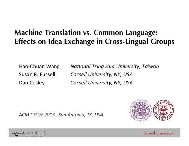 Essay about machine translation hutchins