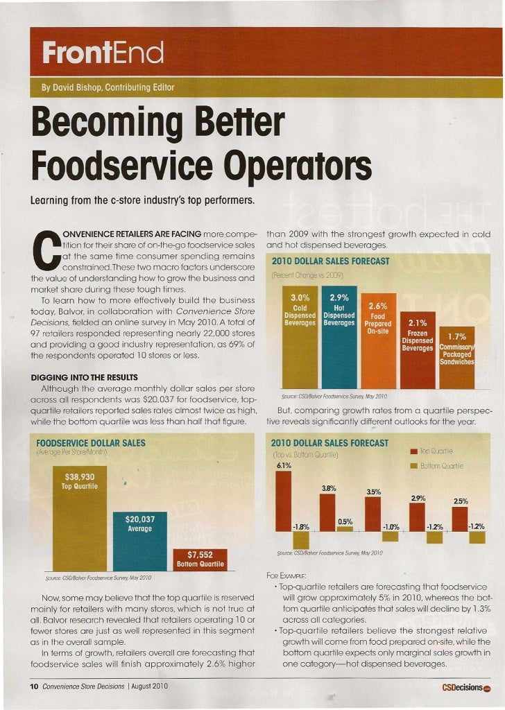 FrontEnd    By David Bishop, Contributing Editor    Becoming Better Foodservice Operators learning from the c-store indust...