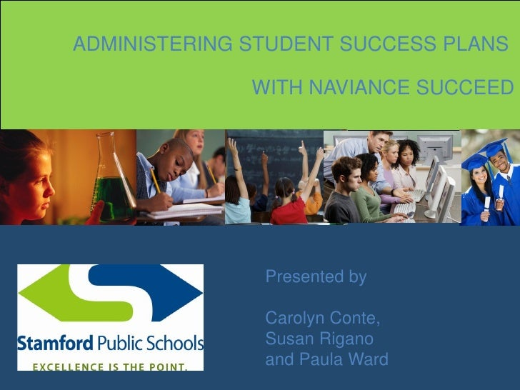 ADMINISTERING STUDENT SUCCESS PLANS              WITH NAVIANCE SUCCEED               Presented by               Carolyn Co...
