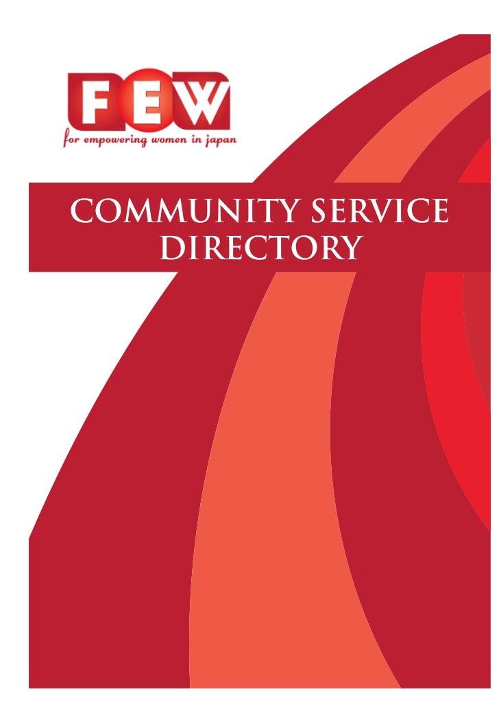 COMMUNITY SERVICE       DIRECTORY1