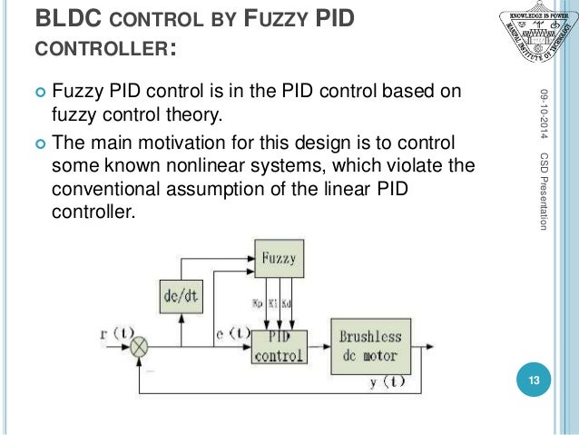Bldc Control Using Pid Fuzzy Logic Controller Csd Ppt