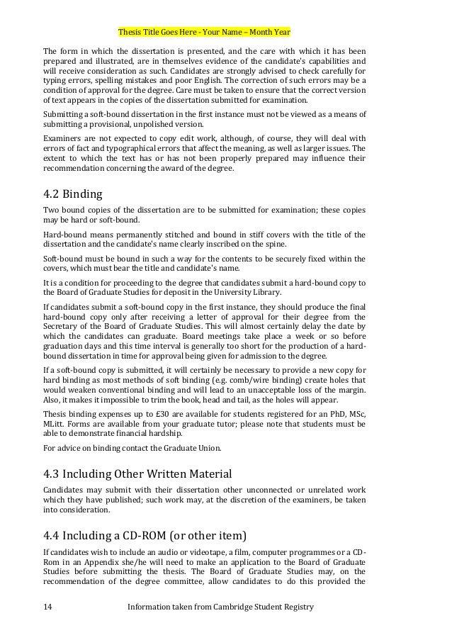 dissertation declaration cambridge