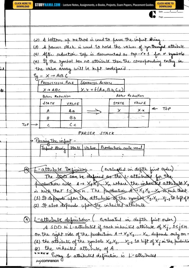 Cse final-year-compiler-design notes, books, e book pdf download