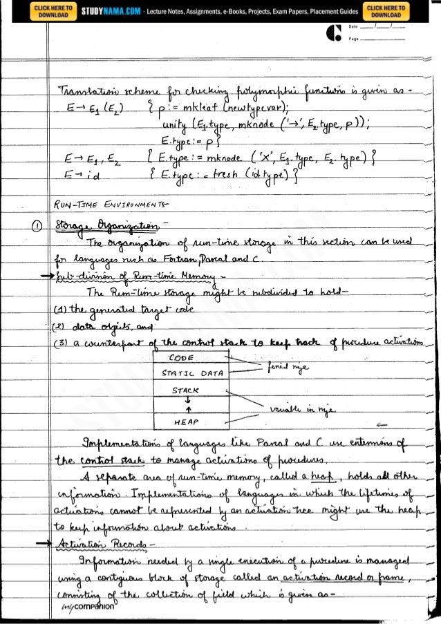 Cse final-year-compiler-design notes, books, e book pdf download