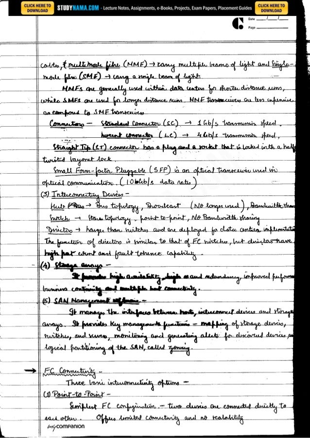 Cse final-year-information-storage-and-management notes