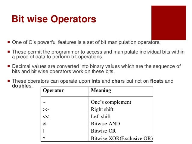 Cse lecture-4 2-c bit wise operators and expression