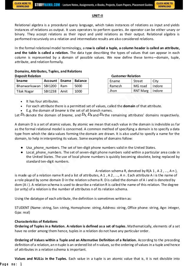 Cse second-year-notes-data-base-management-system-dbms notes