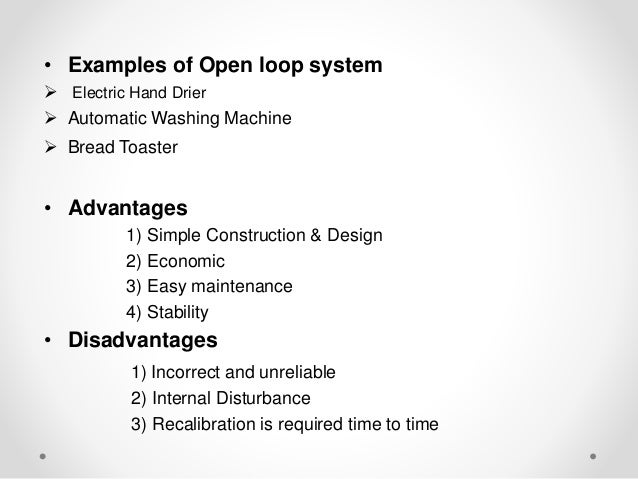 Introduction To Control System Open Loop System And