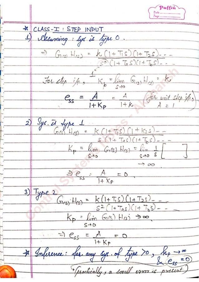 feedback control system pdf notes
