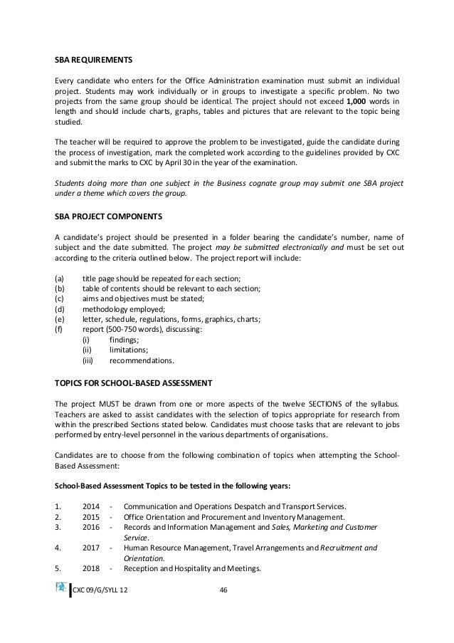 Csec office administration syllabus