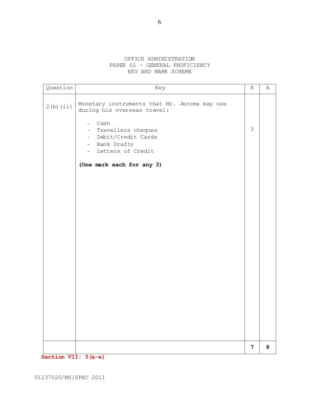 Csec office administration syllabus 86 fandeluxe Image collections