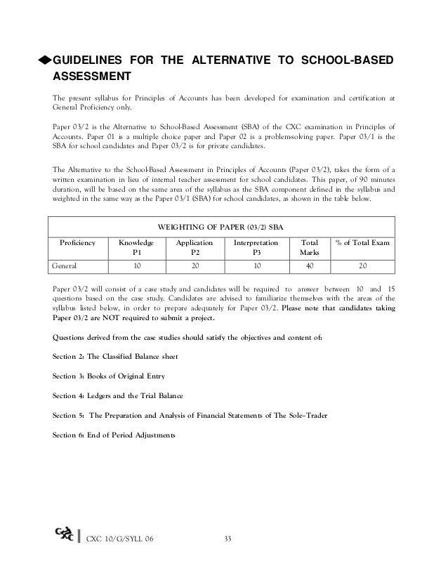 POA SBA Guidelines Essay