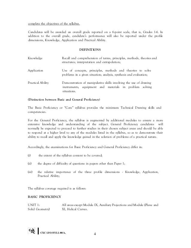 Csec technical drawing 8 complete the objectives of the syllabus fandeluxe Image collections