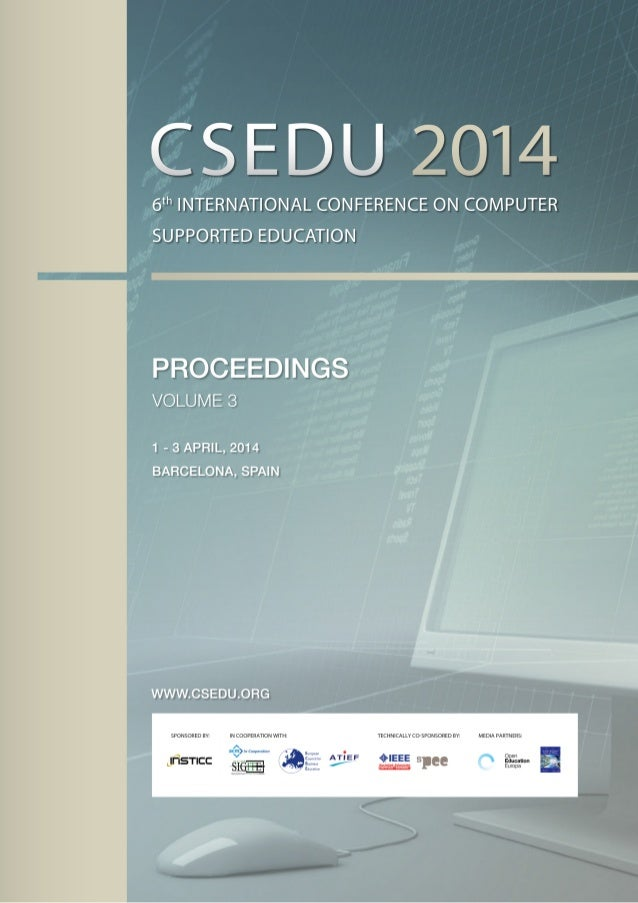 Csedu 2014 Proceedings Of The 6th International Conference On Comput