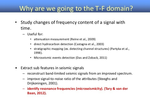 Time-Frequency Representation of Microseismic Signals using the SST Slide 3