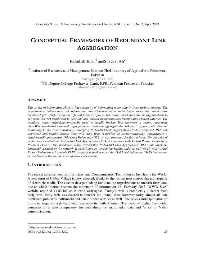 Computer Science & Engineering: An International Journal (CSEIJ), Vol. 3, No. 2, April 2013DOI : 10.5121/cseij.2013.3202 2...
