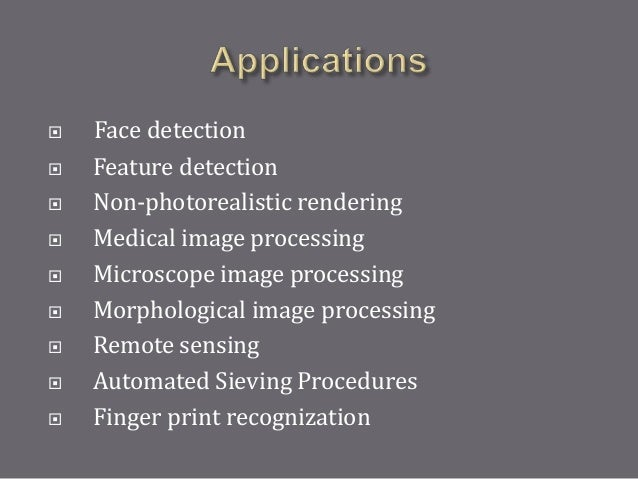 Image Processing ppt