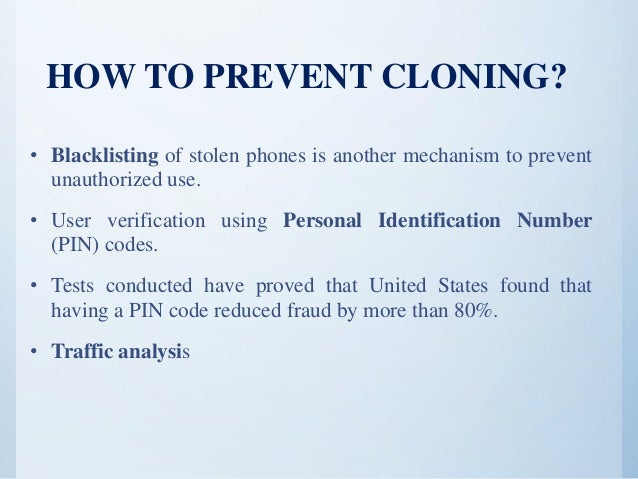 Cse mobile phone cloning ppt