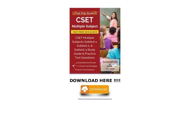 CSET Multiple Subject Test Prep 2018 2019: CSET Multiple