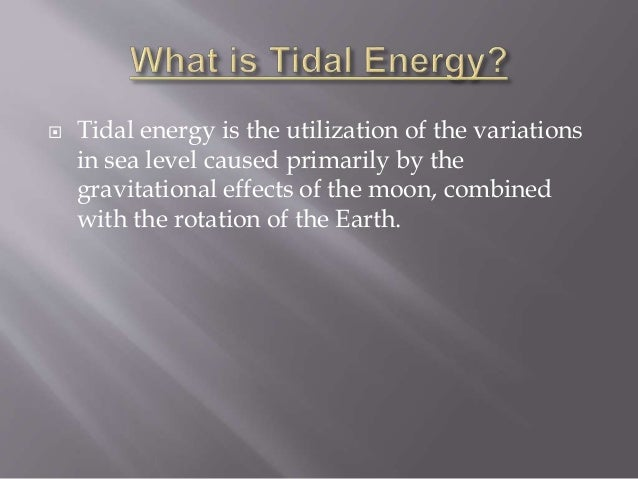 tidal energy powerpoint presentation