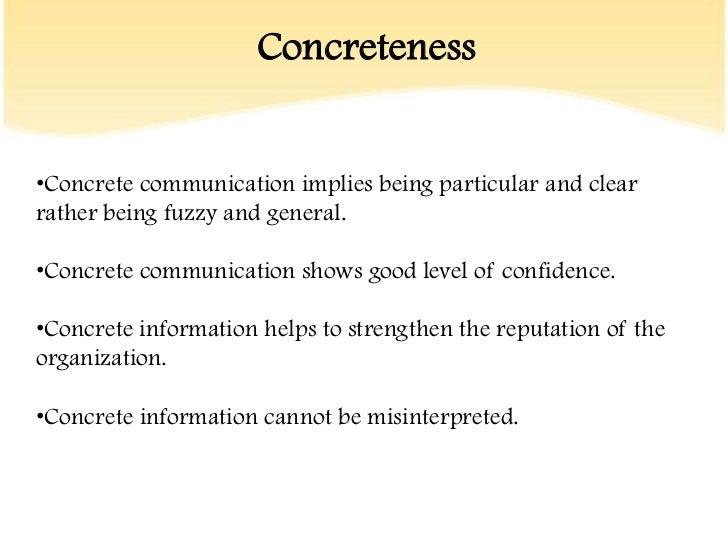 14. Concretenessu2022Concrete Communication ...