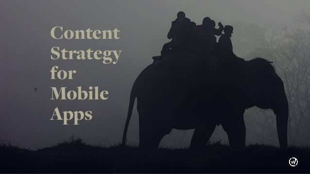 Content Strategy for Mobile Apps