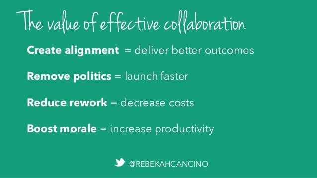 An unspoken prerequisite: WITHOUT OPENNESS, WE CAN'T HAVE EFFECTIVE COLLABORATION.