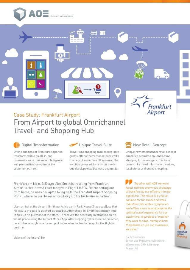 1 Case Study: Frankfurt Airport From Airport to global Omnichannel Travel- and Shopping Hub Offline business at Frankfurt ...
