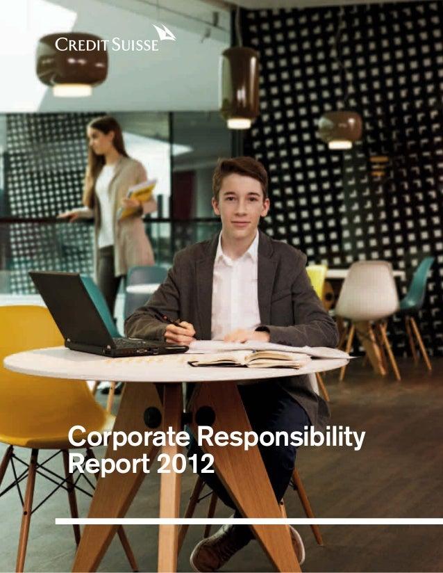 Corporate Responsibility Report 2012
